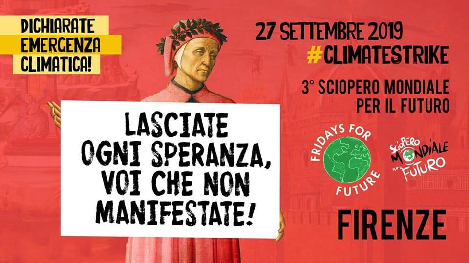 Sciopero clima Firenze 27 settembre 2019 piazza Santa Maria Novella