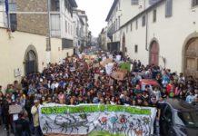 Sciopero clima Firenze corteo manifestazione