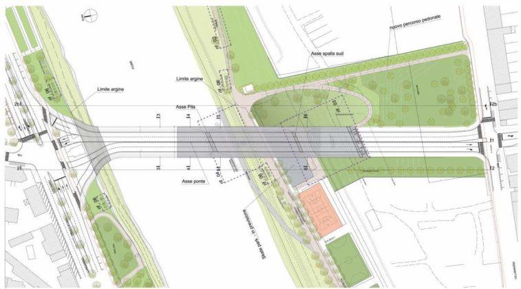 Progetto mappa nuovo ponte arno tramvia linea 3.2