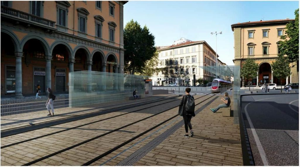 Tramvia Firenze linea 3 percorso fermate piazza Libertà