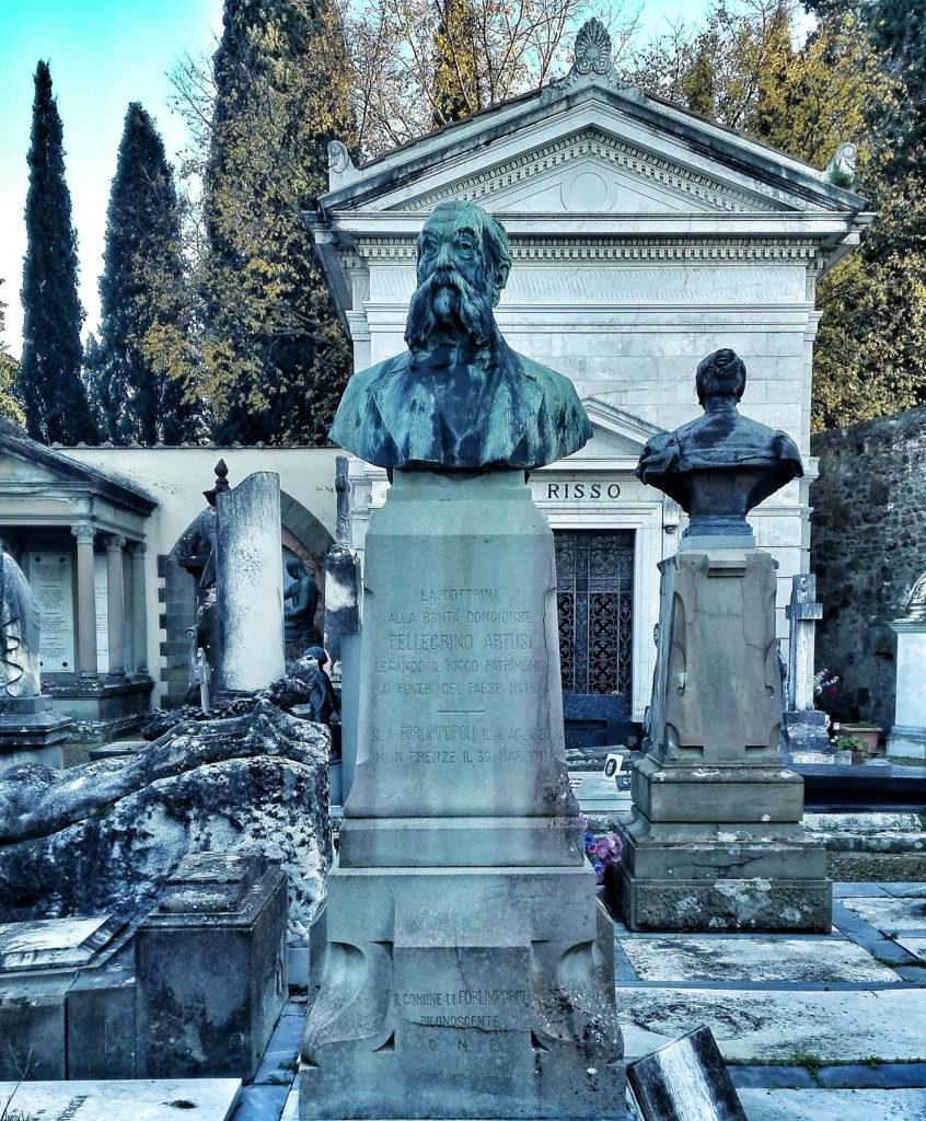 tomba di Pellegrino Artusi cimitero Porte Sante Firenze personaggi illustri sepolti