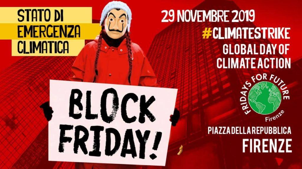 Block Friday sciopero clima 29 novembre Firenze Fridays For Future