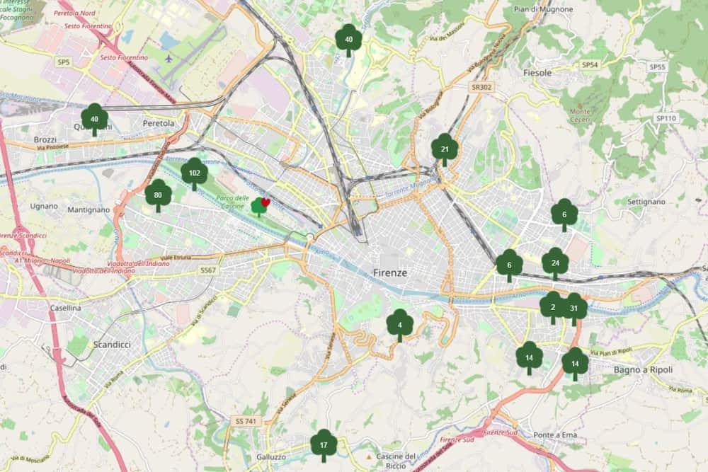 Mappa Dona albero Firenze sito Comune