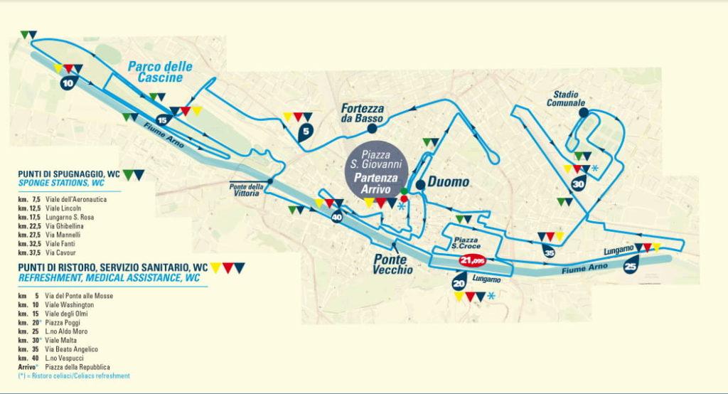 Percorso Firenze Marathon 2019 mappa