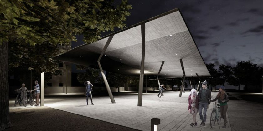 Piazza Isolotto notte rendering