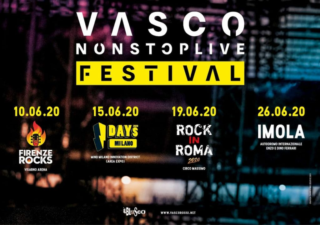 Vasco Nonstop live date concerti