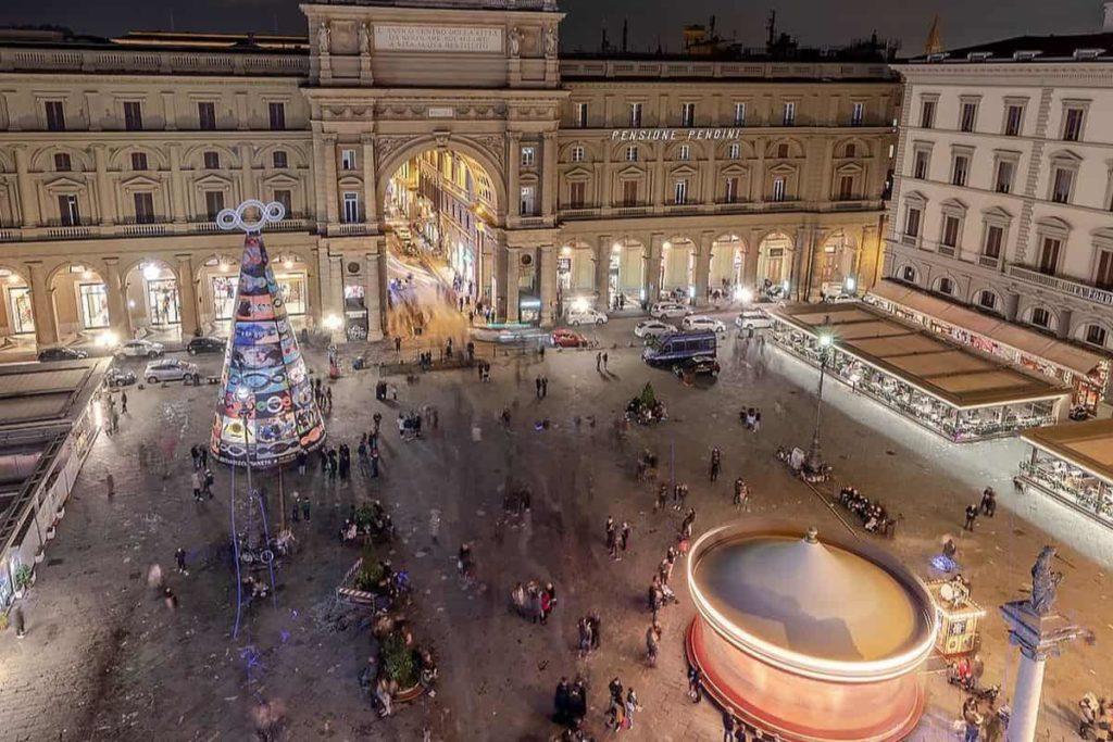 F light festival luci albero Pistoletto Repubblica