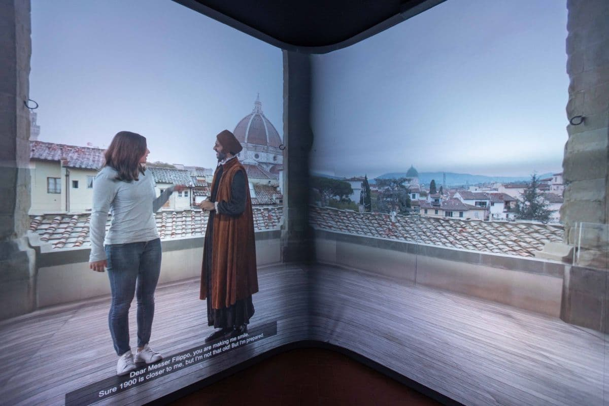 Museo Innocenti Firenze video camera immersiva