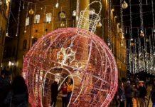 Lumnarie Firenze via Tornabuoni Natale 2019
