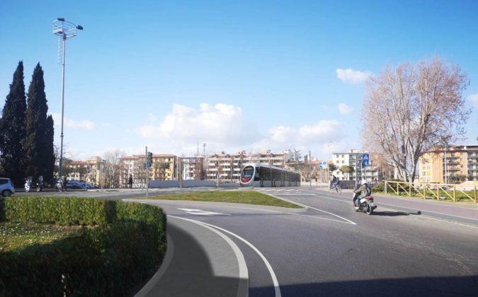 Piazza Ravenna tramvia rendering
