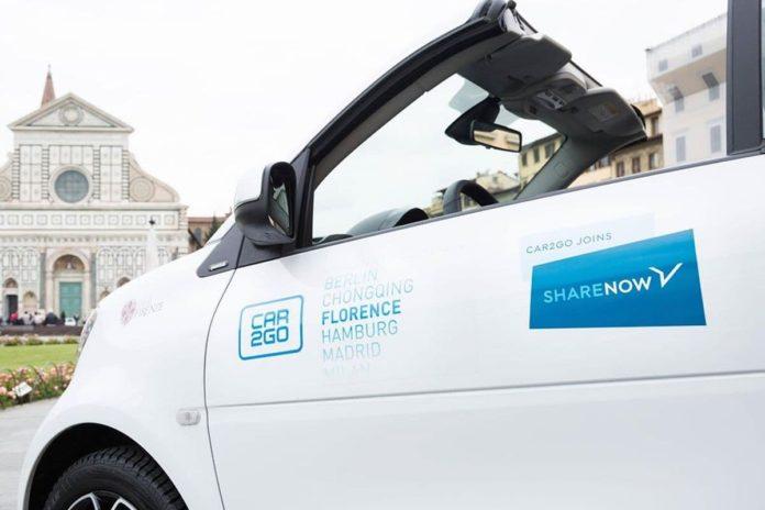 Share Now Car2go Firenze lascia quando perché