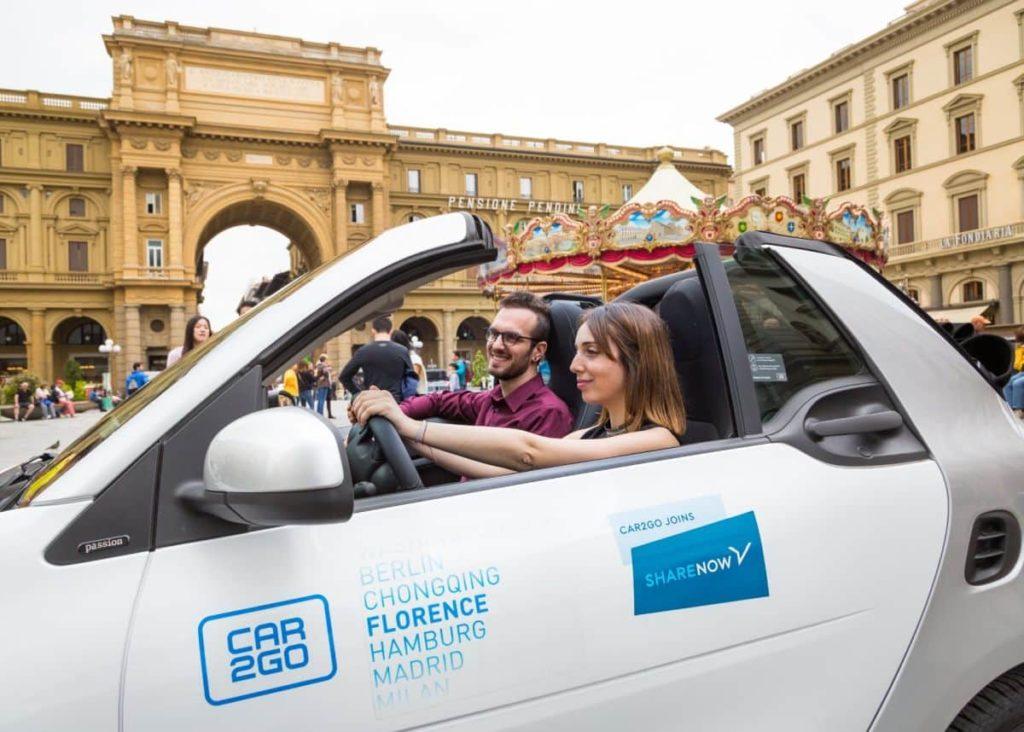 Share Now Firenze disattivazione servizio febbraio