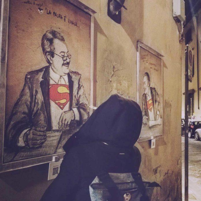 Il nuovo murale de Lediesis: a Firenze arrivano Falcone e Borsellino