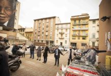 Il murales di Martin Luther King in piazza Leopoldo