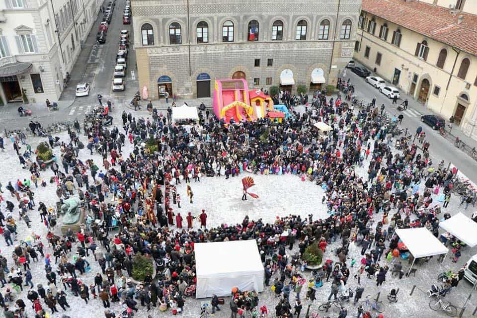Carnevale bambini piazza Ognissanti Firenze