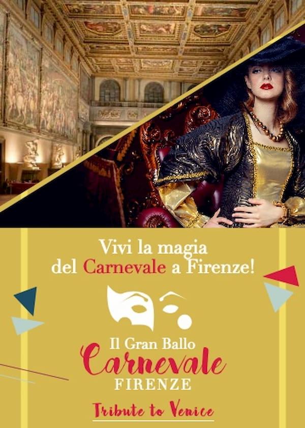 Carnevale Firenze 2020 centro sfilata maschere gran galà