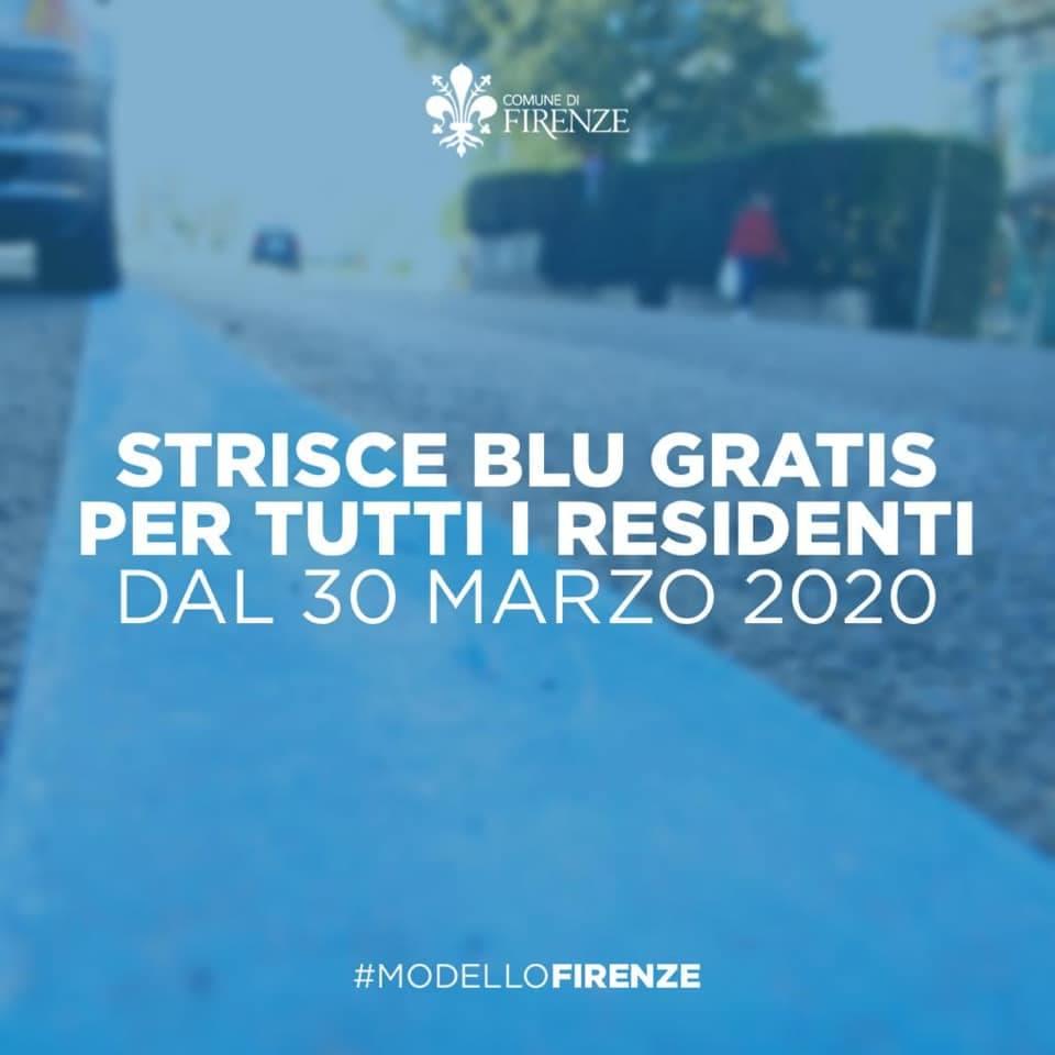 strisce blu residenti Firenze gratis