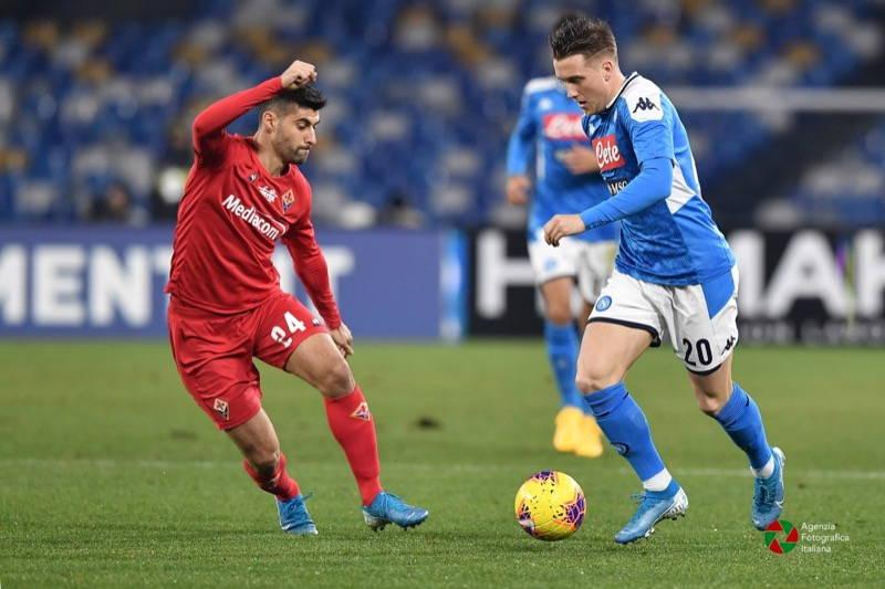 Napoli Fiorentina 0 2. Decidono Chiesa e Vlahovic