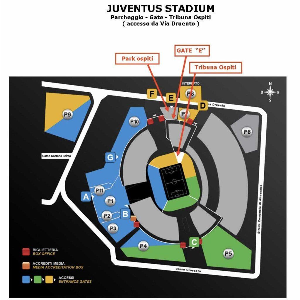 Juventus Fiorentina, come accedere al settore ospiti con i biglietti