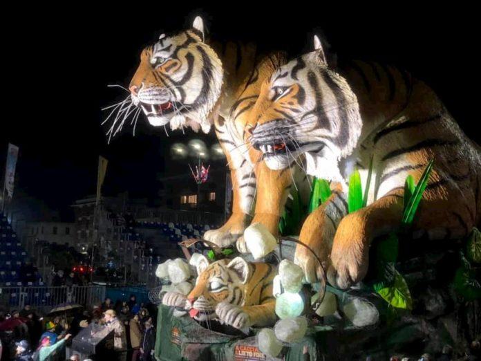 Carnevale Viareggio 2020 secondo corso 9 febbraio