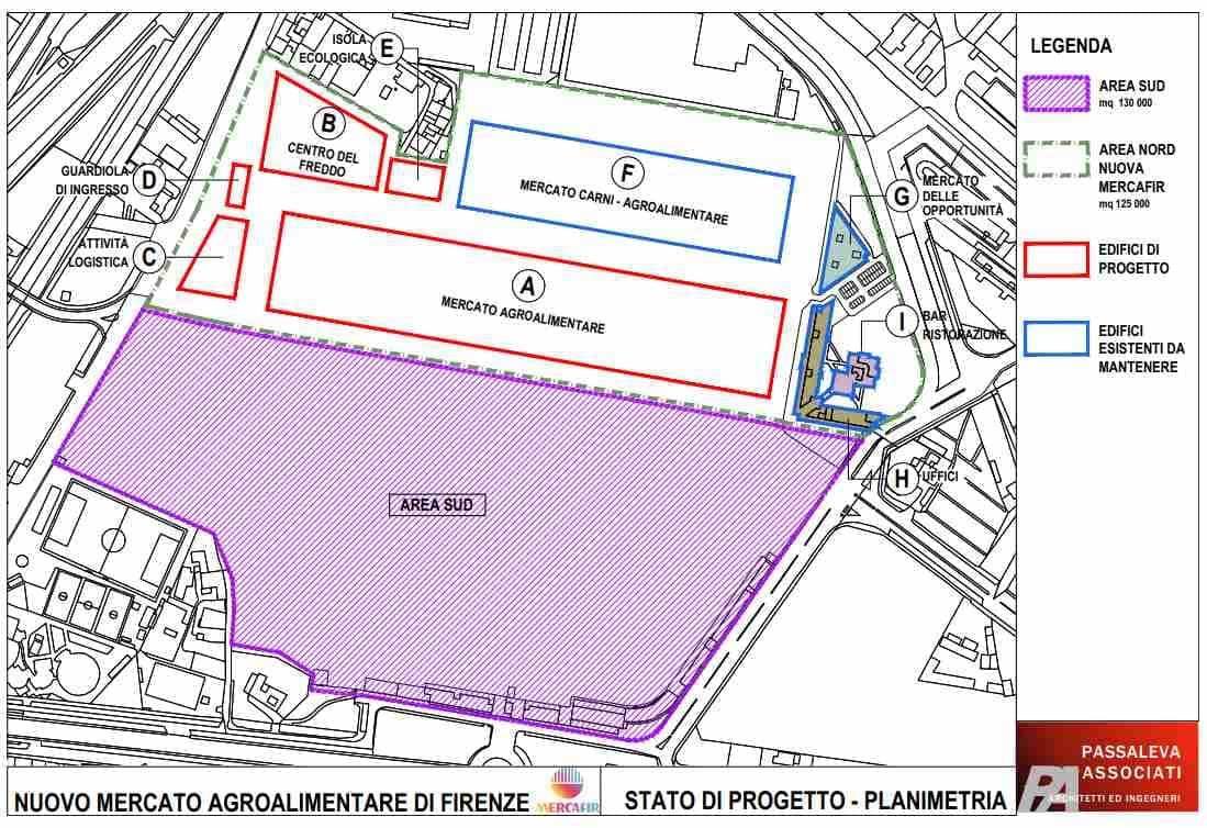 Mapoa progetto nuova Mercafir stadio Firenze