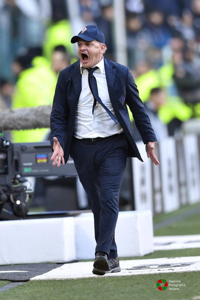 L'allenatore della Fiorentina Beppe Jachini