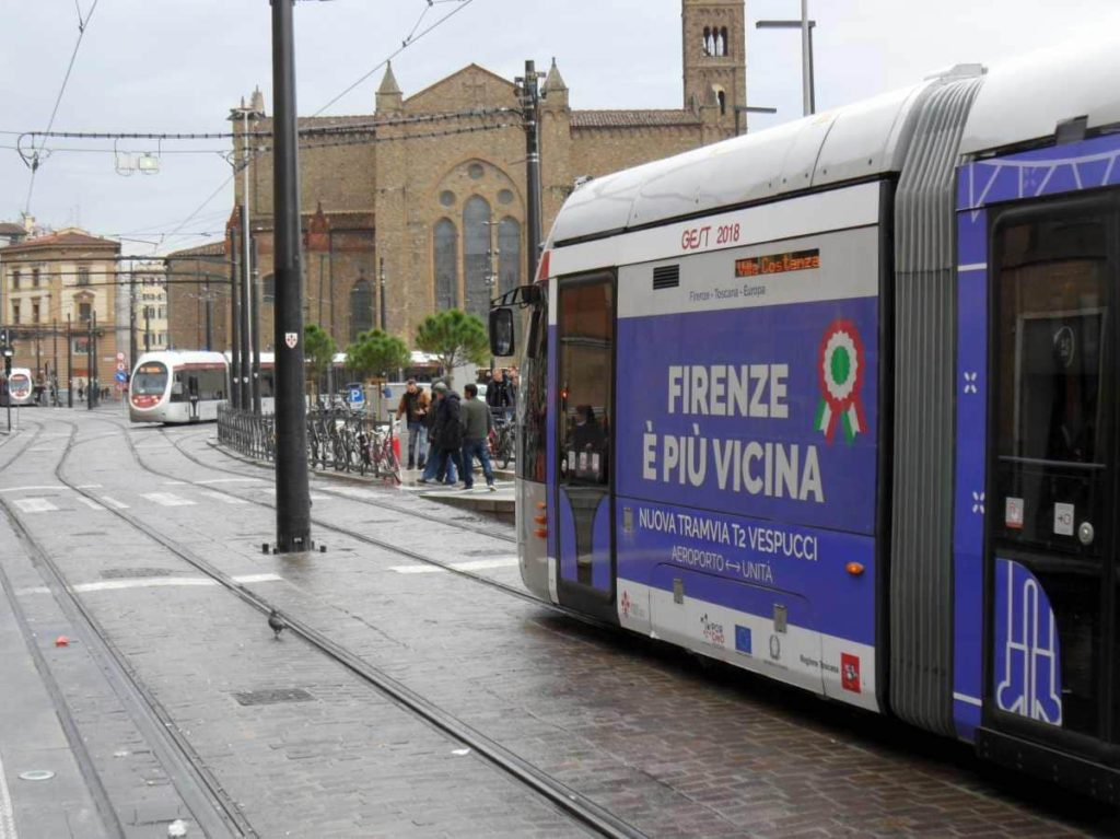 Tramvia Firenze linea 2 Stazione Santa Maria Novella