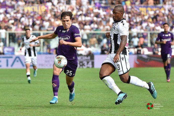 Federico Chiesa contro l'Udinese