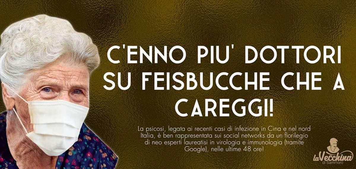 Coronavirus meme Firenze vecchina Sammoro