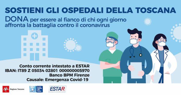 Donazioni ospedali Toscana coronavirus raccolta fondi