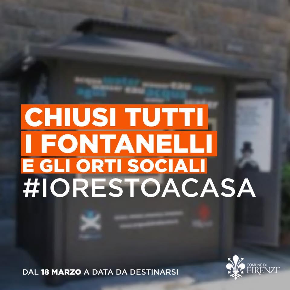 fontanelli chiusi Firenze coronavirus Dario Nardella