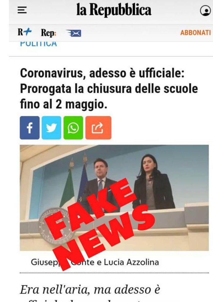 scuole chiuse 20 maggio fake news proroga chiusura azzolina