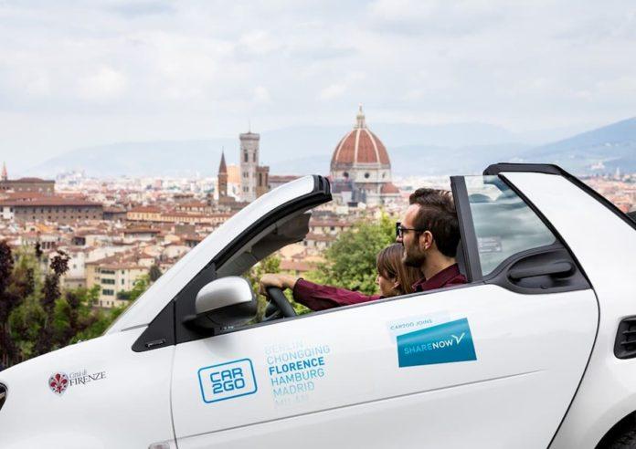 Share Now Car2go Firenze car sharing tariffe