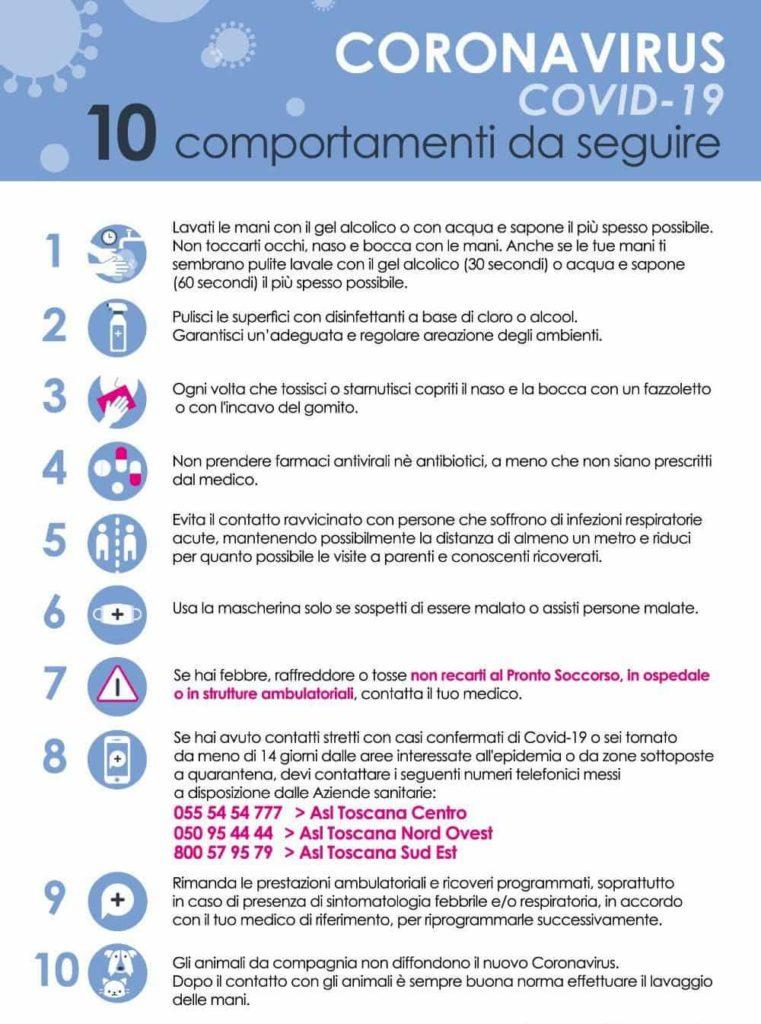 Coronavirus Toscana ultime notizie link utili