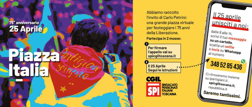 25 aprile, la piazza virtuale dello Spi Cgil Toscana