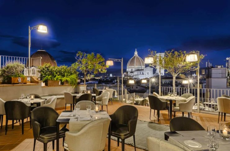 Firenze aperitivi con vista in terrazza Hotel Baglioni