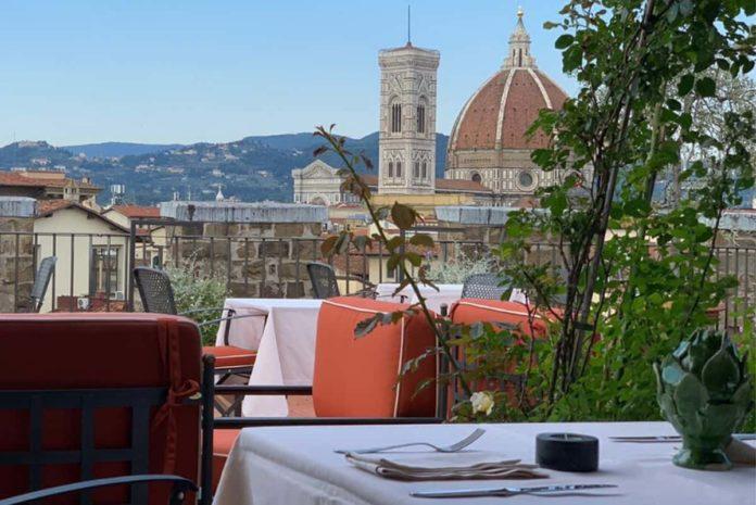Antica Torre Tornabuoni terrazza aperitivo cena vista Firenze