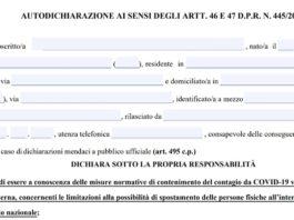 nuova autocertificazione covid coprifuoco modulo pdf ottobre 2020