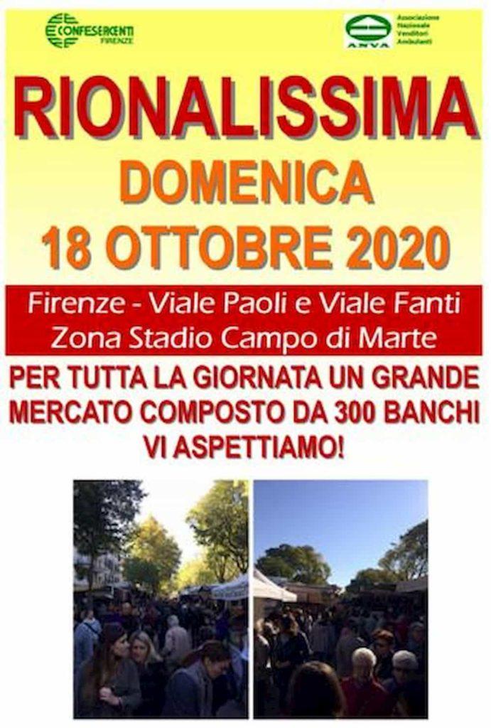 Rionalissima 2020 Firenze mercato Campo di Marte stadio locandina
