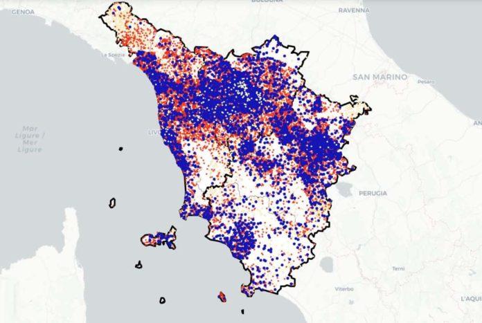 Covid Toscana oggi mappa contagi nuovi coronavirus bollettino aggiornamento situazione
