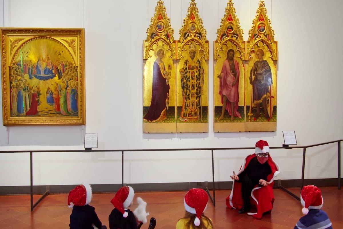 Babbo Natale Uffizi 2020 eventi online
