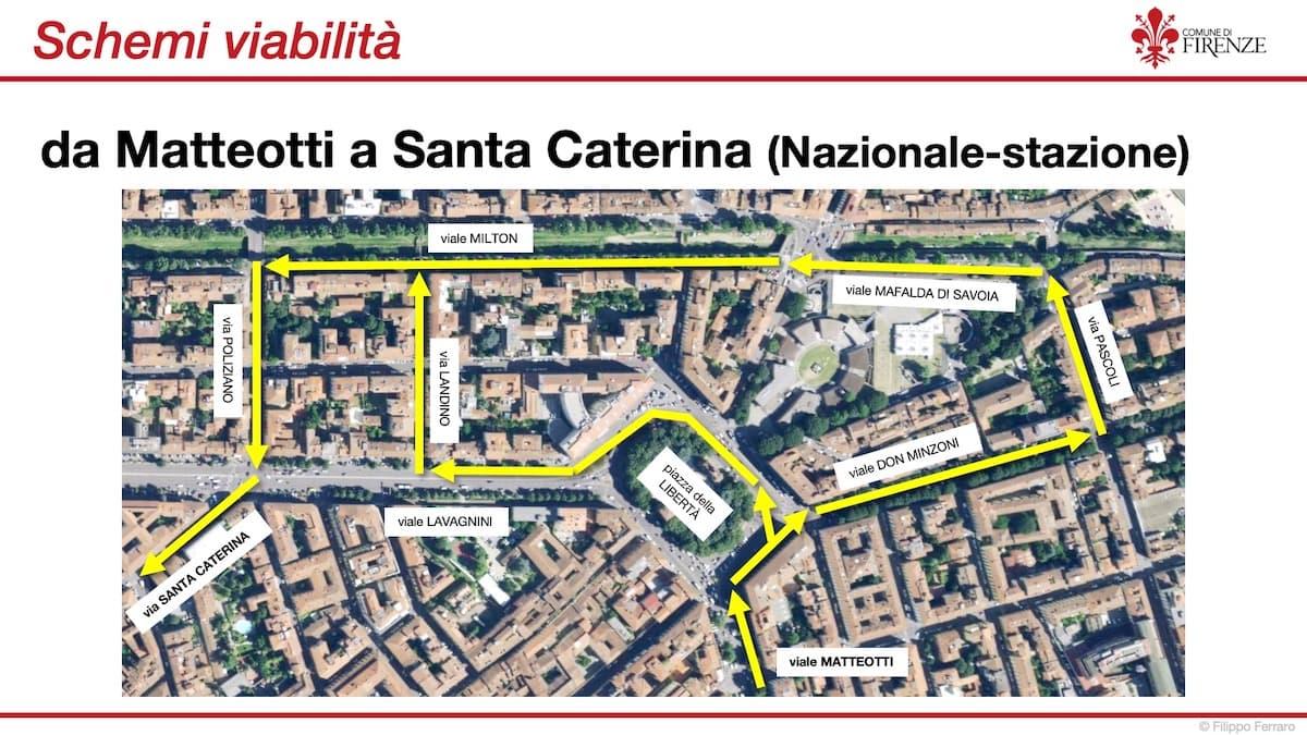 Lavori tramvia Firenze matteotti santa caterina
