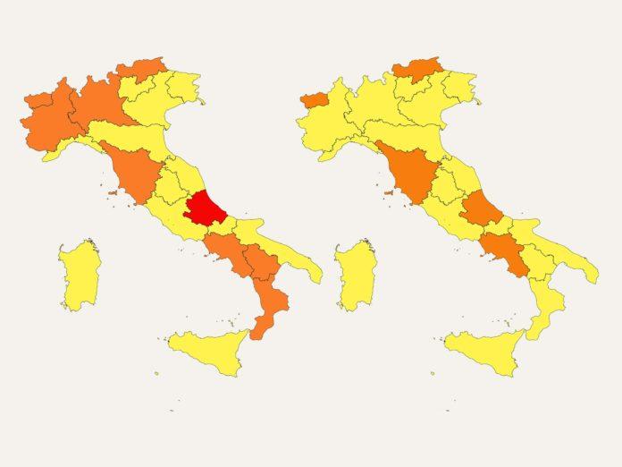 Covid, i nuovi colori delle regioni: dove avviene il cambio con l'ordinanza di Speranza