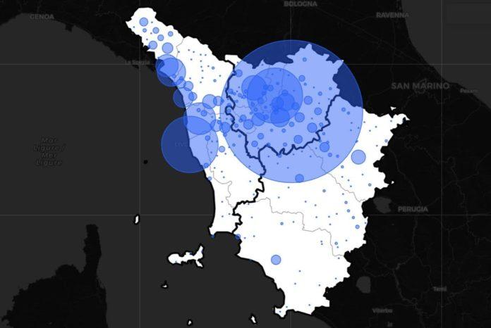 Dati contagi COvid Toscana oggi 4 gennaio bollettino coronavirus Regione