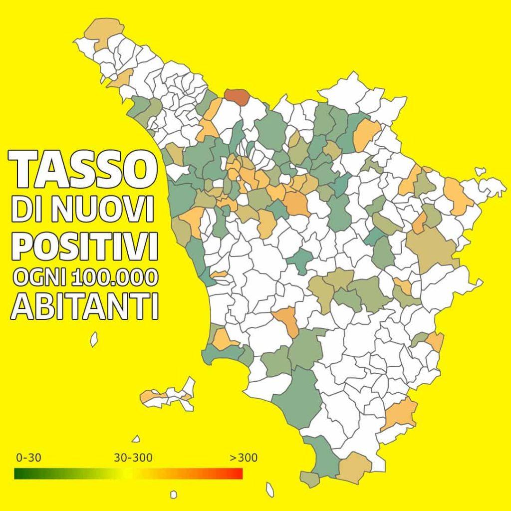 Covid Toscana bianca mappa Giani