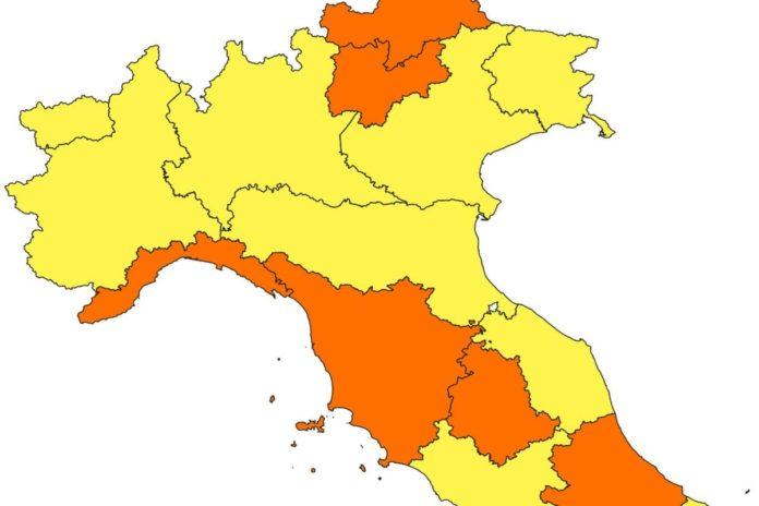 Toscana zona arancione da quando parte cambio colore covid
