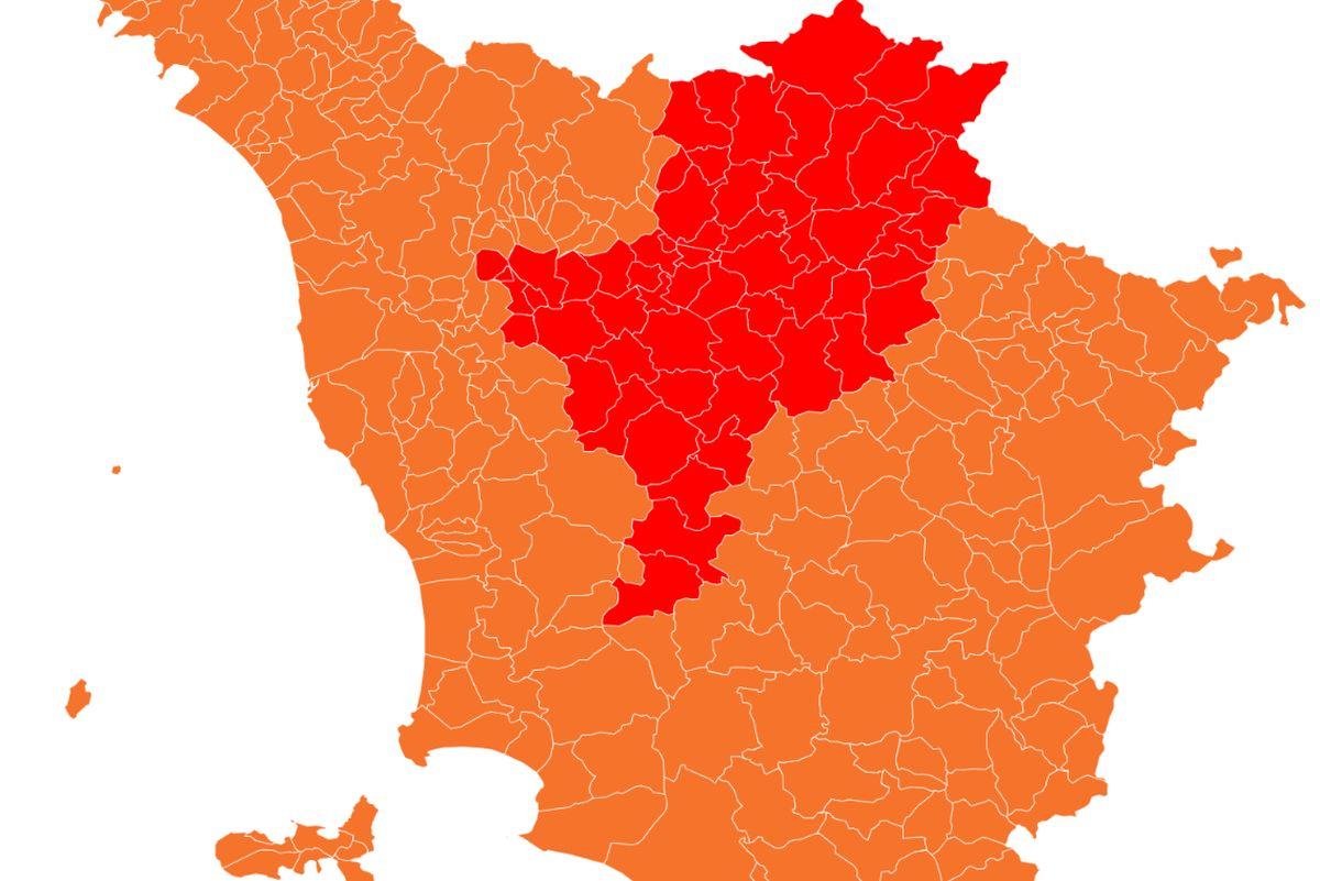 Cartina Toscana Provincia Di Siena.Zone Rosse In Toscana Mappa Quali Sono I Comuni Rossi E Fino A Quando