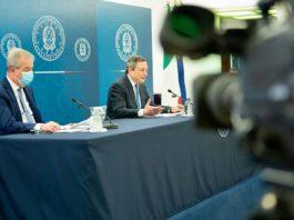 quando parla draghi oggi conferenza stampa diretta streaming