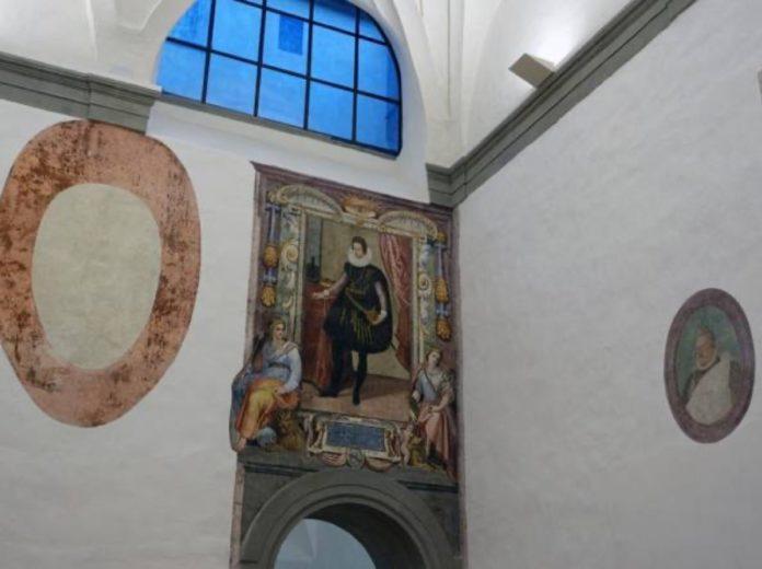 affreschi uffizi restauro