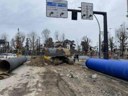 Tramvia firenze centro lavori viale Lavagnini Matteotti